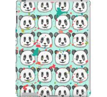 splatter pop panda cookies mint iPad Case/Skin