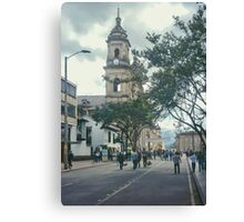 Cathedral at Historic Center of Bogota Colombia Canvas Print