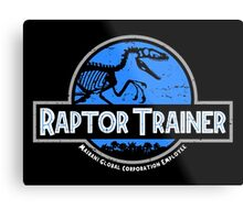 Jurassic World Raptor Trainer Metal Print