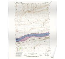 USGS Topo Map Washington Irrigon 241672 1962 24000 Poster