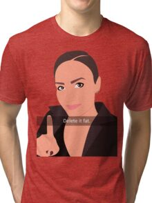 Delete It Fat - Demi Lovato Tri-blend T-Shirt
