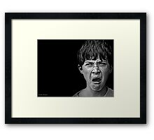 Another day, another boy finding out who his secret admirer is Framed Print