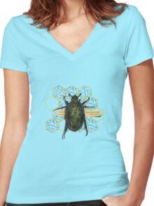 escher's june bug Women's Fitted V-Neck T-Shirt