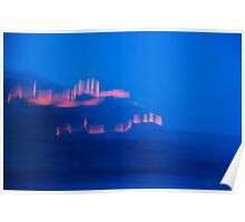 Abstract light in blue! Poster