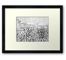 Buttons and Marbles Framed Print