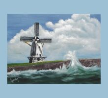 WindMill at stormy weather ..............kj's way Baby Tee