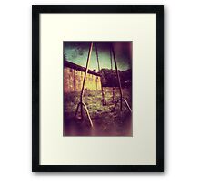 Push Me Framed Print