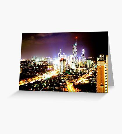 Gold Coast at Night Greeting Card