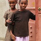 Haitian Brother and Sister by Kent Nickell