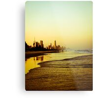 The Golden Coast Metal Print