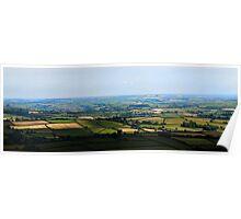 SSE views from Ugborough Beacon, Dartmoor Poster