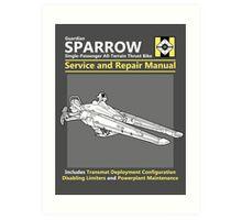 Sparrow Service and Repair Manual Art Print