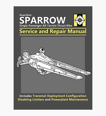 Sparrow Service and Repair Manual Photographic Print