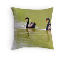 Sailing on happy water  Throw Pillow