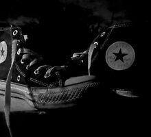 Converse Black and White by Vanessa  Warren