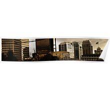Panorama of Downtown Salt Lake City - East Poster