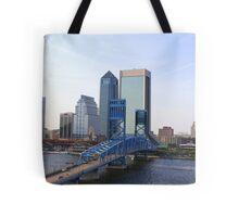 Blue Bridge Jacksonville Florida Tote Bag