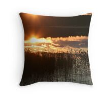 Sunset Lake Mirage, Muskoka Throw Pillow