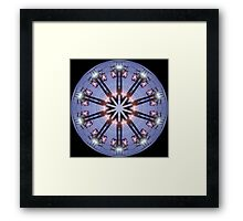 Electric Wire Kaleidoscope Framed Print