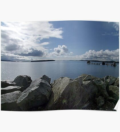 Quiet Day on Saanichton Bay Poster