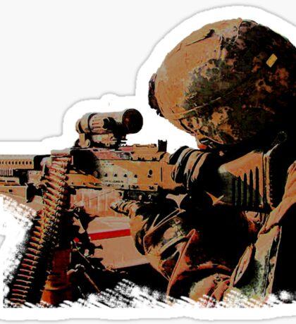 Machine Gunner Sticker