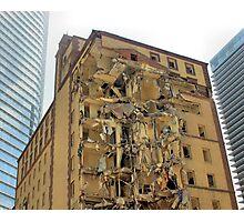 Urban Renewal, Demolition Photographic Print
