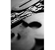 Just My Type #2 (Black and White) Photographic Print