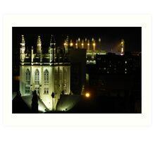 Trinity Cathedral and Progressive Field  Art Print