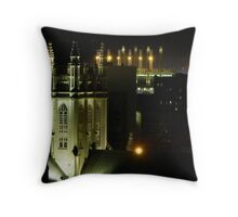 Trinity Cathedral and Progressive Field  Throw Pillow