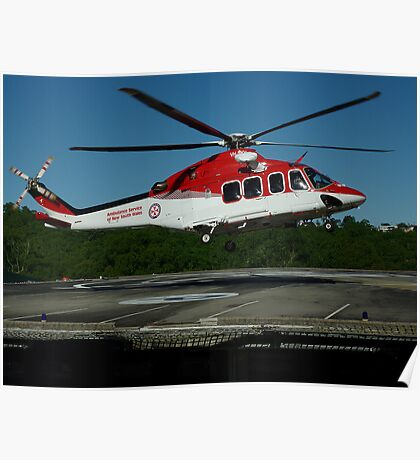 Emergency Helicopter, NSW Poster