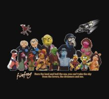 Firefrog (Firefly / The Muppets) - Group Shot #1 Kids Clothes