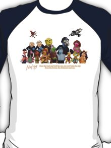 Firefrog (Firefly / The Muppets) - Group Shot #1 T-Shirt