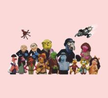 Firefrog (Firefly / The Muppets) - Group Shot #2 (No text) Kids Clothes