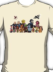 Firefrog (Firefly / The Muppets) - Group Shot #2 (No text) T-Shirt