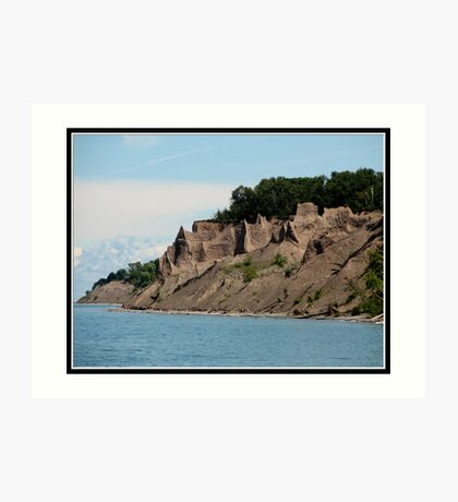 Chimney Bluffs State Park on Lake Ontario  Art Print