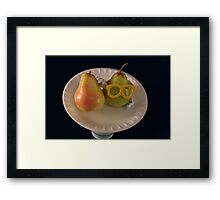 Pear Parody .07 Framed Print
