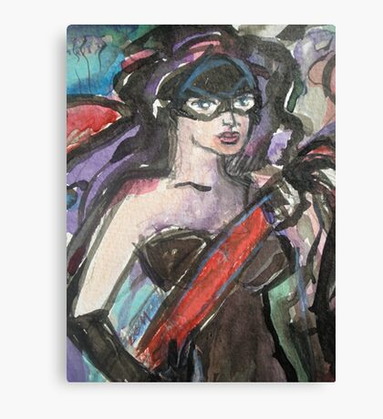 Lady Painter in Mask Detail Canvas Print