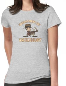 Dept. of Archaeology with Fighting Mascot Womens Fitted T-Shirt