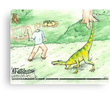 A Fetching Dinosaur Day Canvas Print