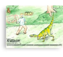 A Fetching Dinosaur Day Canvas Print