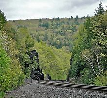 A Steep Grade On the B&A - Western Massachusetts  by Jack McCabe