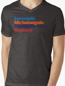 Leonardo, Michelangelo, Donatello, Raphael Mens V-Neck T-Shirt