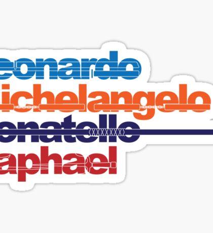 Leonardo, Michelangelo, Donatello, Raphael Sticker