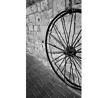 Wagon Wheel Shadow Photographic Print