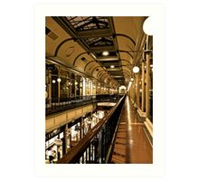 Adelaide Arcade upstairs Art Print