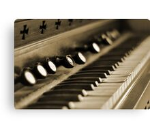 Keys of Ivory - Sepia Canvas Print