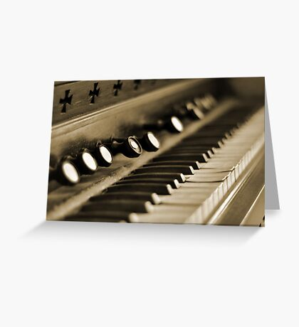 Keys of Ivory - Sepia Greeting Card