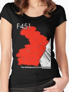The Battleground Is Everywhere (red) Women's Fitted Scoop T-Shirt