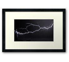 """6/8/2011 Electrical Storm, """"Lightning Strike # 3"""" Framed Print"""