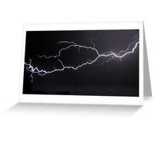 "6/8/2011 Electrical Storm, ""Lightning Strike # 3"" Greeting Card"